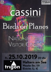 Cassini, Birds on Planes, National Park Visitor Center